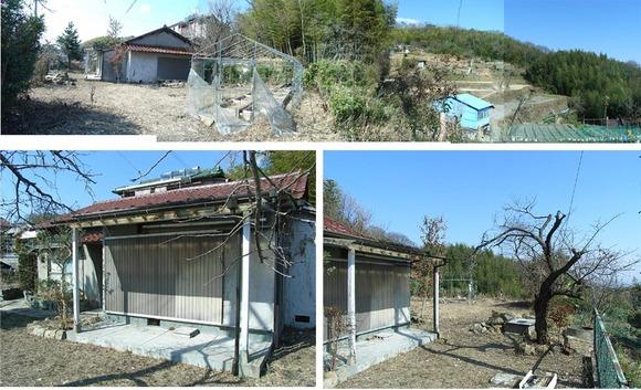 大阪通勤圏の菜園付き高台住宅。ビニールハウスも有り、陽当たり、通風良好。 ◎