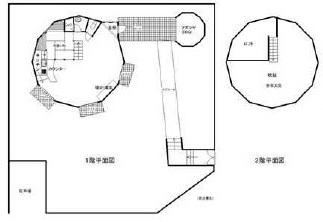 ◆注文住宅の多角形ドームのロフト付き板ログ造りの別荘、バーベキュウ炉の有る東屋も有り。◆   ◎注文住宅の多角形ドームのロフト付き板ログ造りの別荘、バーベキュウ炉の有る東屋も有り。◎